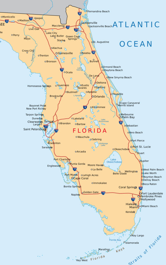 Mietwagen Tour durch Florida