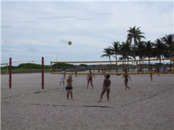 Volleyball im Lummus Park Miami Beach, Florida, Florida