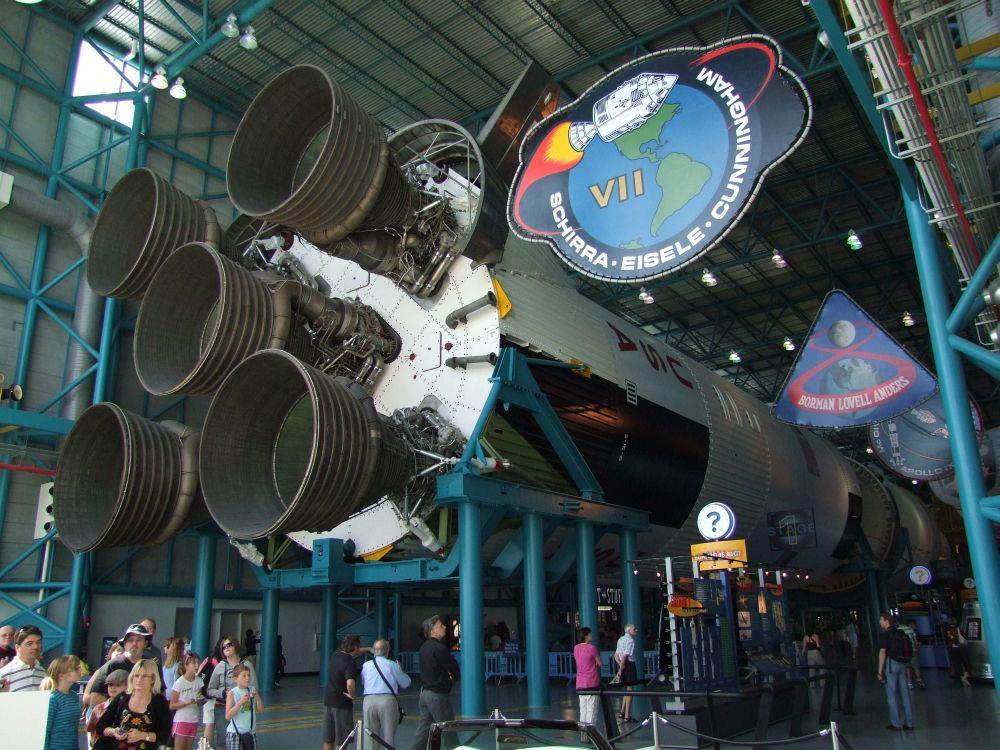 Apollo Rakete im Kennedy Space Centre