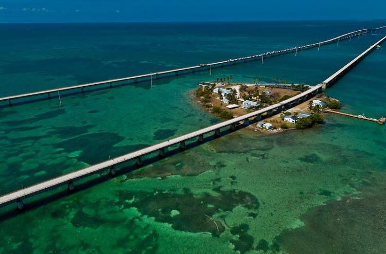 Atemberaubendes Panorama auf dem Highway # 1 nach Key West