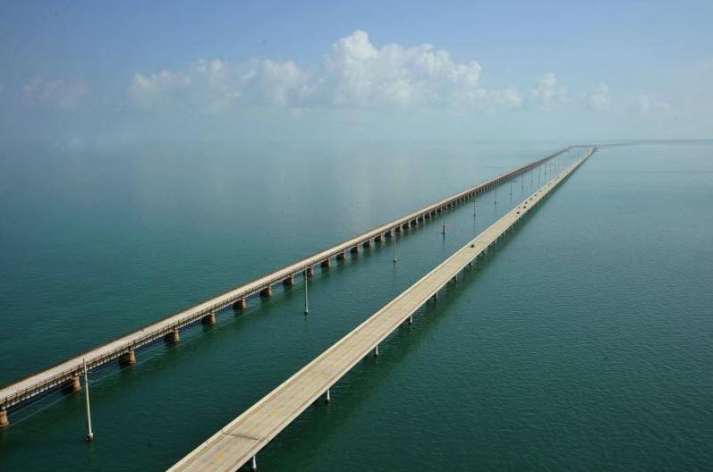 Highway #1 von und zu Key West Florida