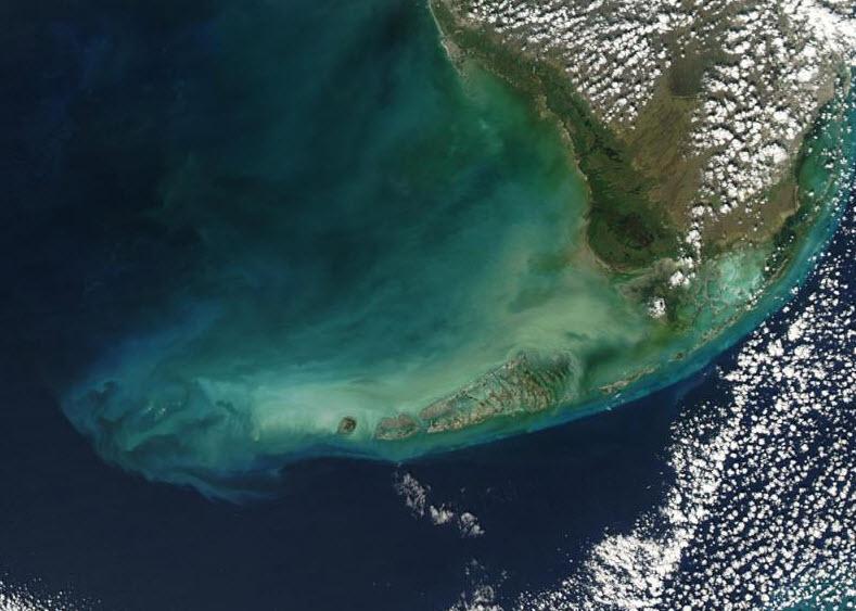 Satellitenaufnahme von Key West, Florida